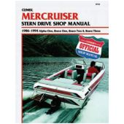 Mercruiser Sterndrive Service Manual-Alpha, Bravo 1,2,3